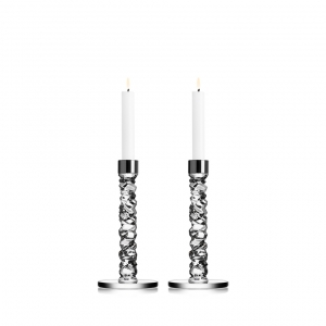 Orrefors Carat Candlestick Pair