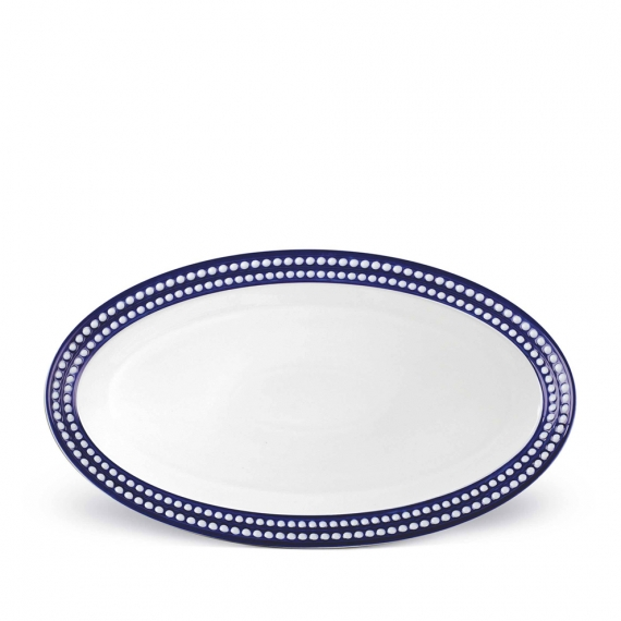 Perlée Large Oval Platter - Blue