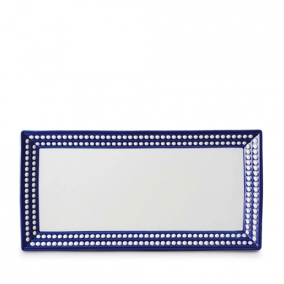Perlée Rectangular Platter - Blue
