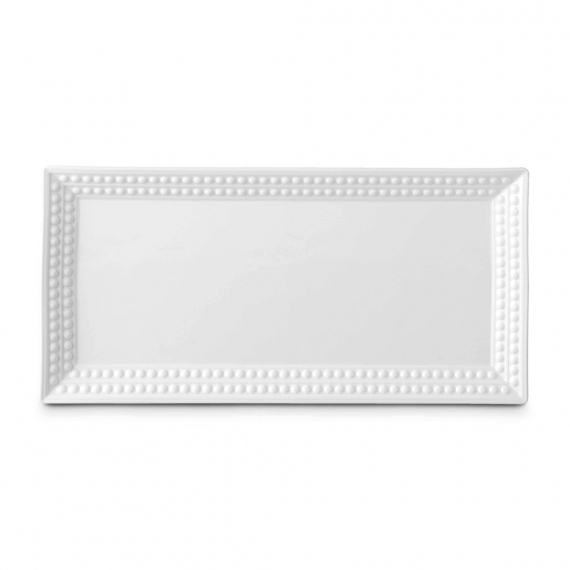 Perlée Rectangular Platter - White