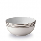L'Objet Perlée Serving Bowl Platinum