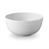 L'Objet Perlée Serving Bowl White