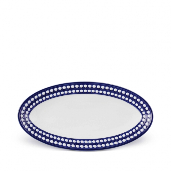 Perlée Small Oval Platter - Blue