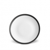 L'Objet Soie Tressée Bread and Butter Plate Black Accents