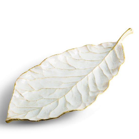 Winter Leaves Magnolia Dish