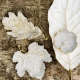 Michael Aram Winter Leaves Magnolia Dish White