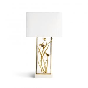 Black Iris Table Lamp