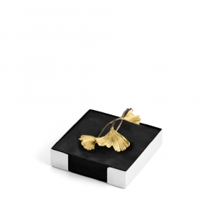 Golden Ginkgo Cocktail Napkin Holder
