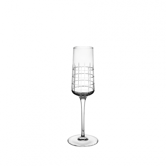 Graphik Champagne Flute In Crystal