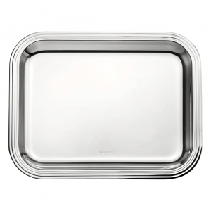 Christofle Albi Medium Silver-Plated Rectangular Tray Silver