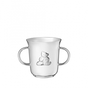 Christofle Charlie Bear Silver-Plated Baby Cup Silver