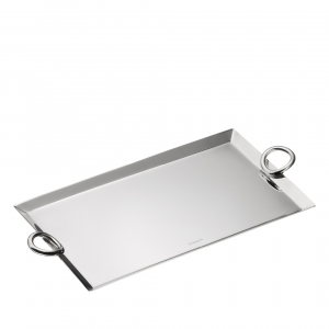 Christofle Vertigo Silver-Plated Mail Tray Silver