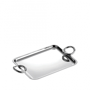 Christofle Vertigo Small Silver-Plated Tray Silver