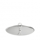 Christofle Oh De Christofle Stainless Steel Appetizer Plate Silver