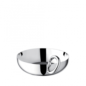 Vertigo Silver-Plated Snack and Trinket Bangle Bowl