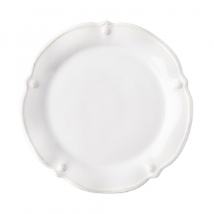 Juliska Berry & Thread Whitewash Flared Dessert / Salad Plate Set Of 4 White