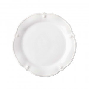 Juliska Berry & Thread Whitewash Flared Cocktail Plate Set Of 4 White