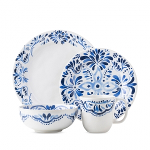 Juliska Iberian Journey Indigo 4 Piece Place Setting