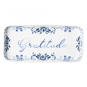 Iberian Journey Indigo Gratitude Tray Set Of 2