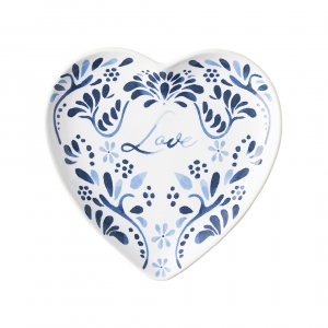 Iberian Journey Indigo Love Tray Set Of 2