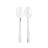 Isabella Arcylic Salad Servers Set Of 8
