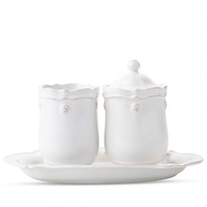 Berry & Thread Whitewash Lidded Jar Set Of 2
