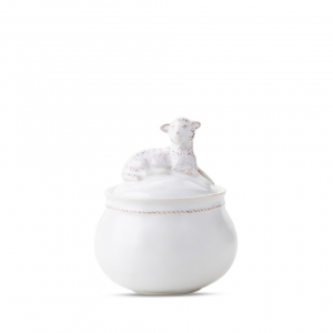 Clever Creatures Henri - Lamb Lidded Jar Set Of 2