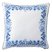 Iberian Journey Indigo Border Pillow