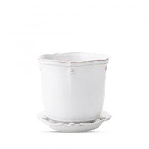 Berry & Thread Whitewash Planter and Saucer