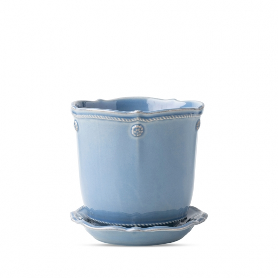 Berry & Thread Chambray Planter and Saucer