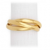 L'Objet Three Ring Napkin Jewels Set of 4 Gold