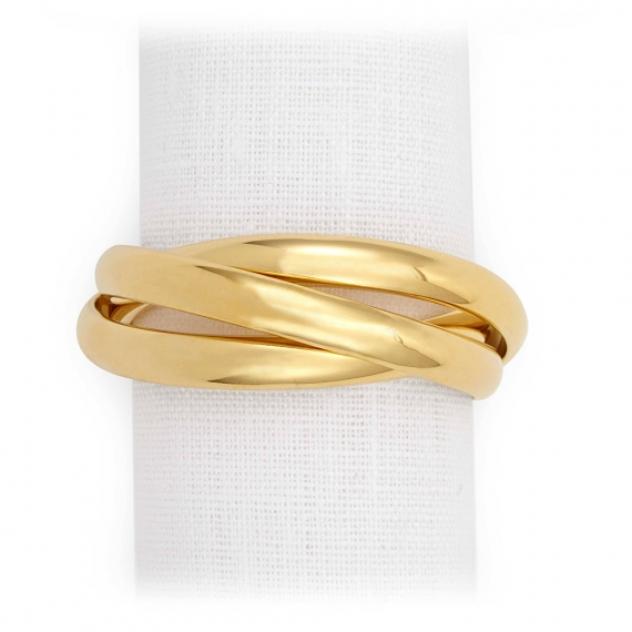 Three Ring Napkin Jewels Set of 4 - Gold