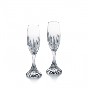 Baccarat Masséna Flute Set Of 2 Clear