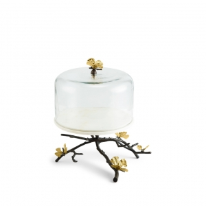 Butterfly Ginkgo Cakes Stand With Dome