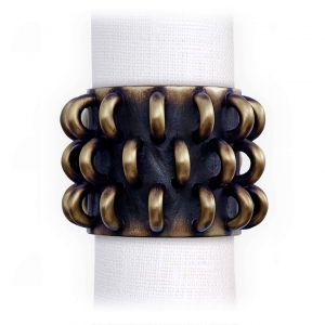 L'Objet Tulum Rings Napkin Jewels Set of 4