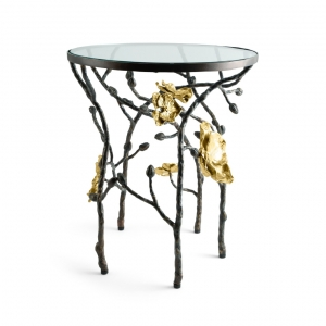Gold Orchid Accent Table