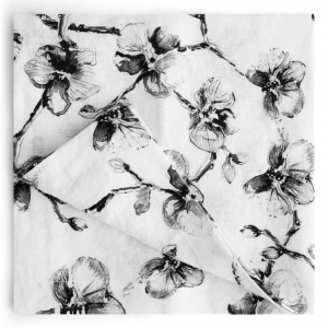 Black Orchid Dinner Napkins Set Of 4