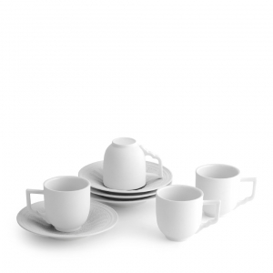 Michael Aram Palace Demitasse Set Of 4 White