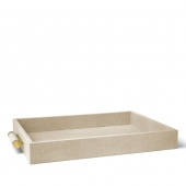 Classic Shagreen Serving Tray Wheat
