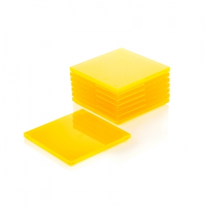 Acrylic Coasters 8 Pack - Yellow