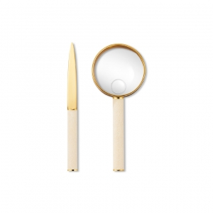 Shagreen Magnifying Glass And Letter Opener Set