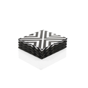 Acrylic X-Printed Coasters - 4 Pack