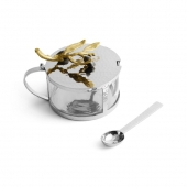 Olive Branch Condiment Container With Spoon
