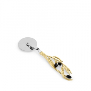 Olive Branch Pizza Cutter with Black Enamel