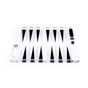 Rockwell Backgammon Set - Black & White