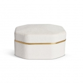 Octagonal Shagreen Box - Cream