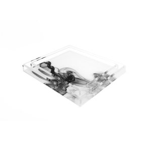 Alexandra Von Furstenberg Acrylic Cocktail Black Smoke Tray