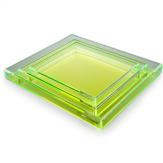 Fearless Cocktail Green Tray