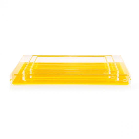 Fearless Cocktail Yellow Tray