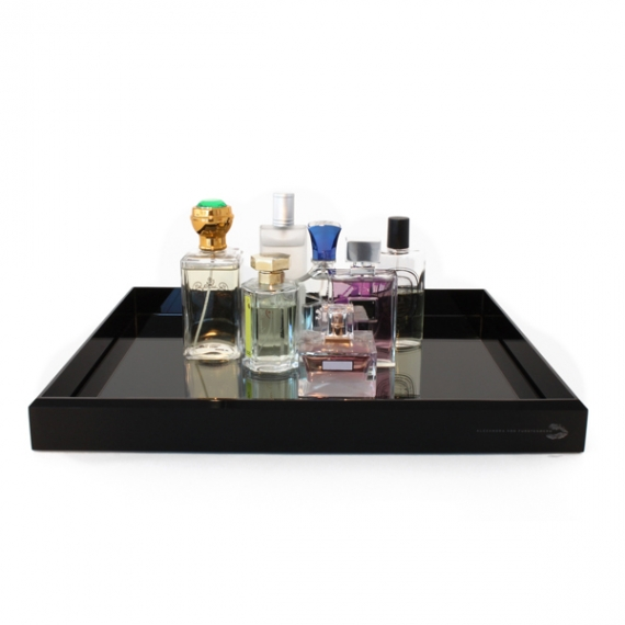Vanity Cocktail Black Mirror Tray
